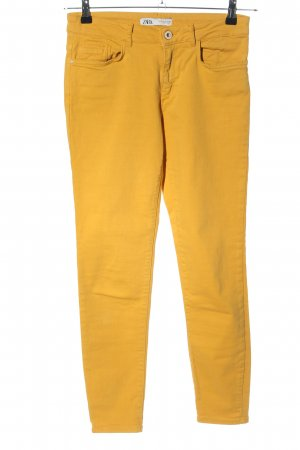 Zara High Waist Jeans hellorange Casual-Look