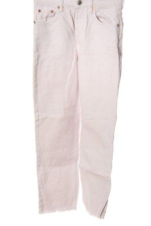 Zara High Waist Jeans wollweiß Casual-Look