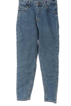 Zara Jeans a vita alta blu stile casual