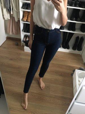 Zara High Waist Jeans Dunkelblau 36