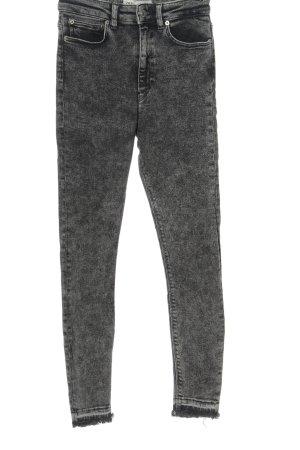 Zara High Waist Jeans hellgrau Street-Fashion-Look