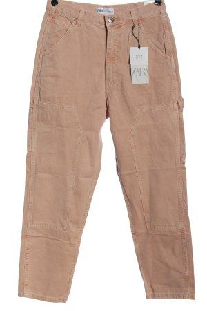 Zara High Waist Jeans nude Casual-Look