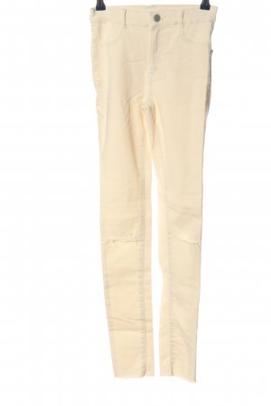 Zara High Waist Jeans creme Casual-Look