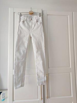Zara High Waist Jeans Skinny in weiß