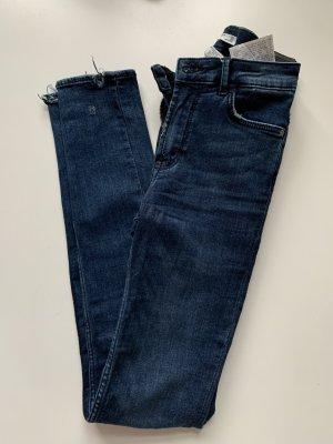 Zara Women High Waist Jeans dark blue