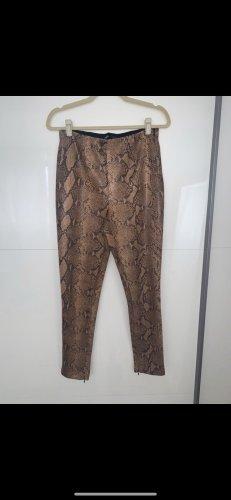 Zara Skórzane spodnie Wielokolorowy