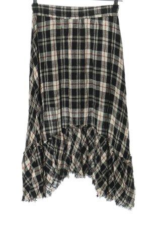 Zara High Waist Rock schwarz-weiß Allover-Druck Casual-Look