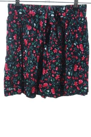 Zara High-Waist-Shorts Blumenmuster Casual-Look