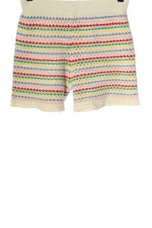 Zara High-Waist-Shorts Streifenmuster Casual-Look