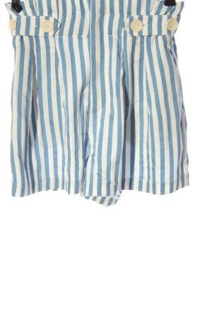 Zara High-Waist-Shorts blau-weiß Streifenmuster Casual-Look