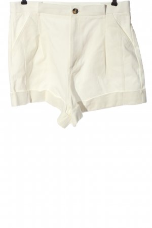 Zara High-Waist-Shorts weiß Casual-Look