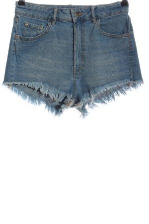 Zara High-Waist-Shorts blau Casual-Look
