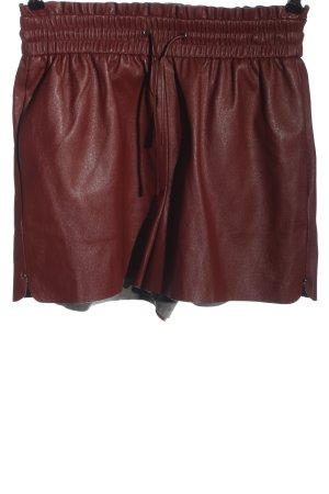 Zara High-Waist-Shorts braun Casual-Look