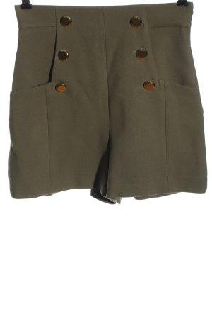 Zara Pantaloncino a vita alta cachi stile casual