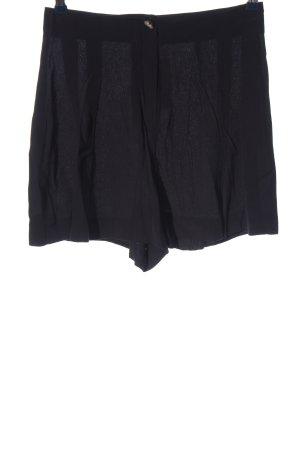 Zara Pantalón corto de talle alto negro look casual
