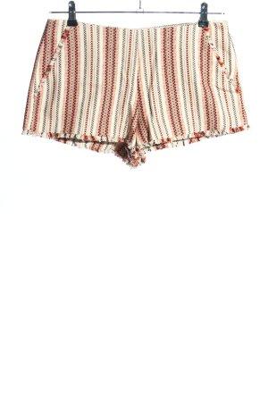 Zara High-Waist-Shorts grafisches Muster Casual-Look