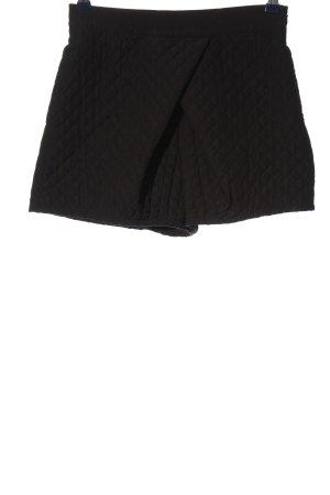 Zara Pantalón corto de talle alto negro estampado acolchado look casual