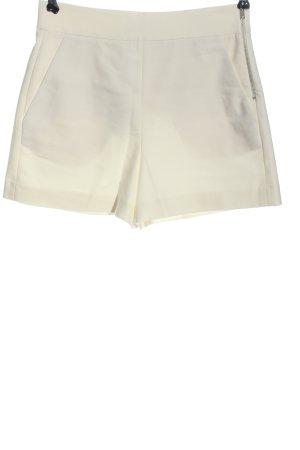 Zara High-Waist-Shorts wollweiß klassischer Stil