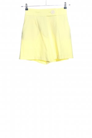 Zara High-Waist-Shorts blassgelb Casual-Look