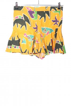 Zara High-Waist-Shorts Allover-Druck Casual-Look