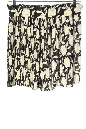 Zara Pantaloncino a vita alta nero-crema stampa integrale stile casual