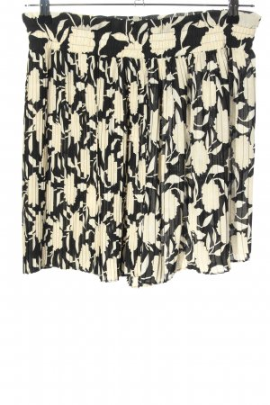 Zara High waist short zwart-room volledige print casual uitstraling