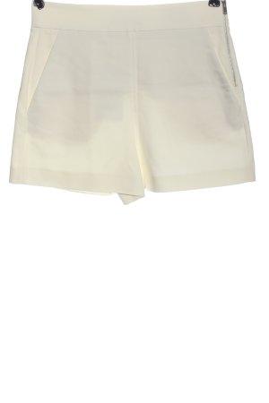 Zara High-Waist-Shorts creme Casual-Look