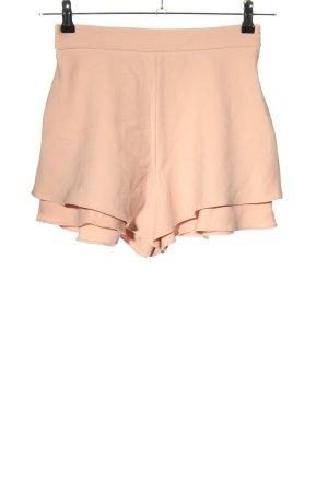 Zara High-Waist-Shorts nude Casual-Look