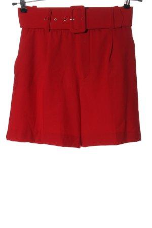 Zara High-Waist-Shorts rot Casual-Look