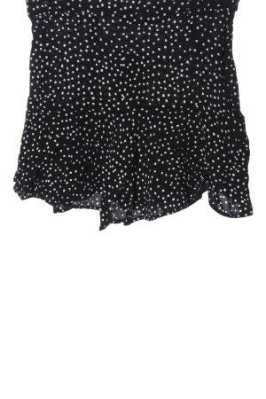 Zara High-Waist-Shorts schwarz-weiß Punktemuster Casual-Look