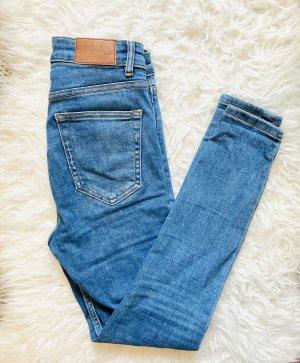 Zara High Waist Jeans blue-neon blue