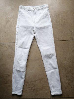 Zara High Waist Skinny Jeans Weiß Sommer