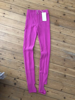 ZARA High Waist Stretch Leggings Pink Nein Gerippt Top