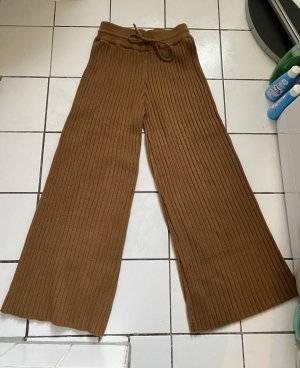Zara Palazzo Pants cognac-coloured-light brown