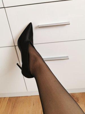 Zara Highheel Stiefel aus Satin und Innen echt Leather Leder