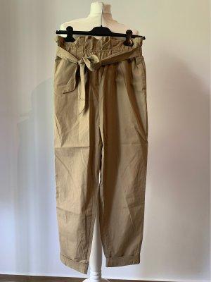Zara Pantalone a vita alta beige