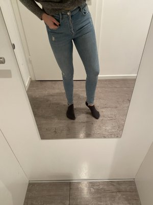 Zara Highwaist Jeans Hellblau Blau 36 NEUWERTIG