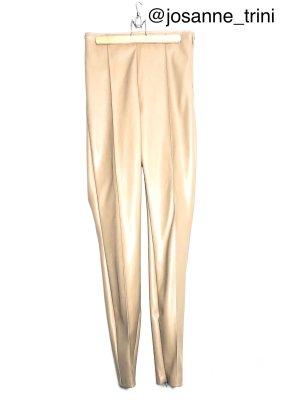 Zara Pantalone in pelle beige-color cammello