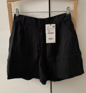 Zara Highwaist Shorts schwarz S NEU