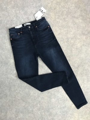 Zara Highwaist Skinny Jeans electric blue black 40