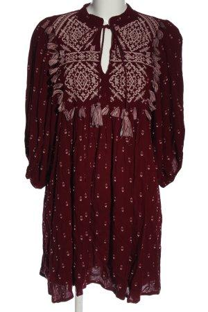 Zara Sukienka boho czerwony Graficzny wzór W stylu casual