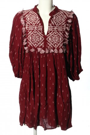 Zara Hippiejurk rood-wit casual uitstraling