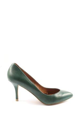 Zara Spitz-Pumps grün Casual-Look