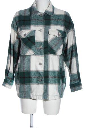Zara Koszula w kratę zielony-biały Na całej powierzchni W stylu casual