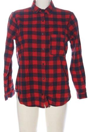 Zara Koszula w kratę czerwony-niebieski Na całej powierzchni W stylu casual