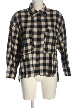 Zara Lumberjack Shirt black-white check pattern casual look
