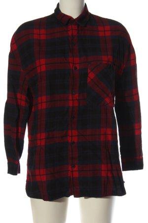 Zara Koszula w kratę niebieski-czerwony Wzór w kratkę W stylu casual