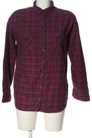 Zara Camisa de leñador rosa-azul estampado a cuadros look casual