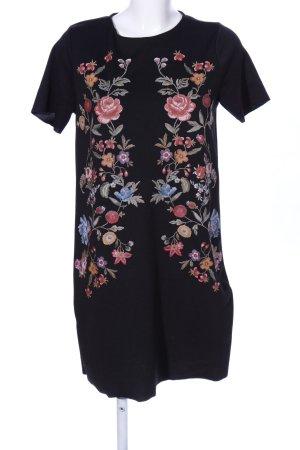 Zara Home Langarmkleid Blumenmuster Casual-Look