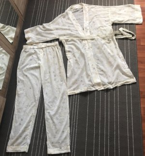 Zara Home Schlaf-Set Pyjama Hose und Morgenmantel Gr. M Homewear Loungewear